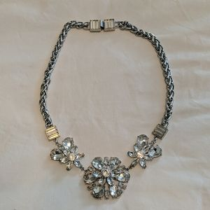 Kate Spade Clear Crystal Floral Statement Necklace